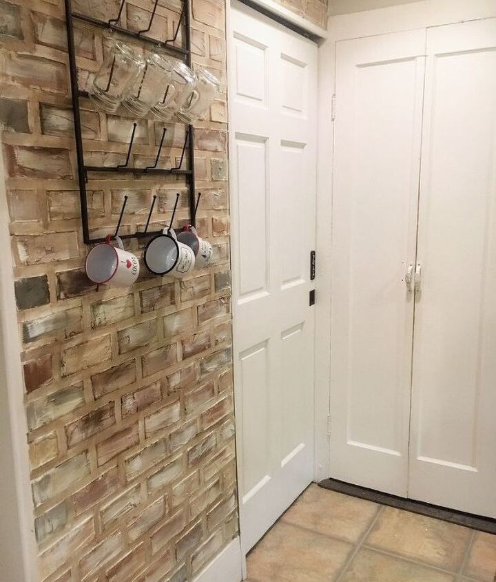 s 17 faux brick ideas for your home, Upgraded Wall For 30