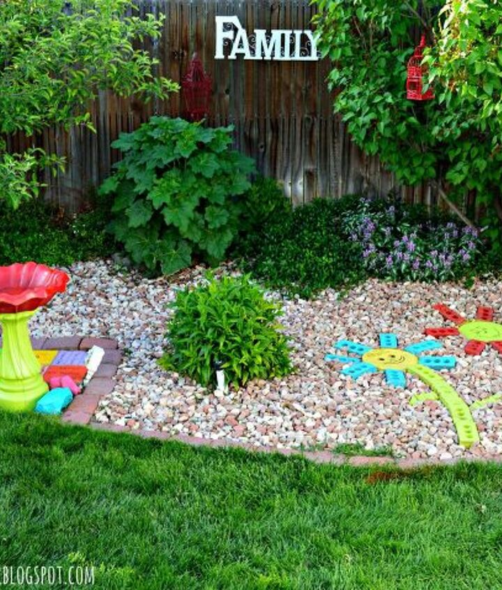 s 17 faux brick ideas for your home, Recycled Bricks Become Colorful Yard Art