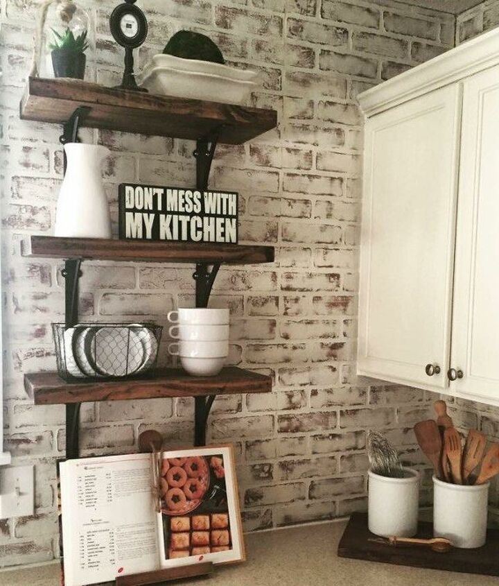 s 17 faux brick ideas for your home, Basic Kitchen Upgrade