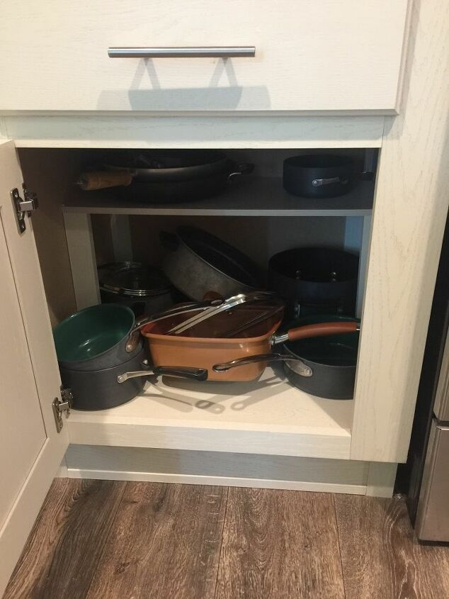 q how can i get more storage in a small kitchen