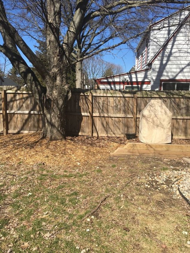 q how to build a patio over roots