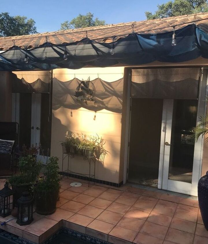 q what could my husband and i do to change the look of the courtyard