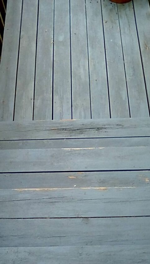 q what should be done about old front steps
