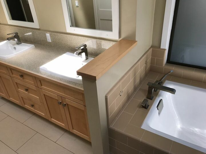 q i need projects to decorate our new master bathroom