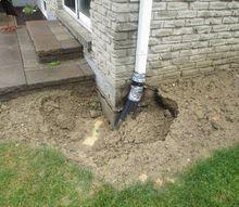 q does this seem normal following a basement leak repair