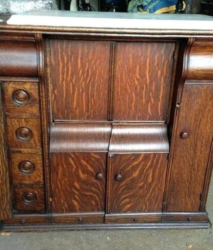 q i want to convert a singer cabinet into microwave stand any ideas