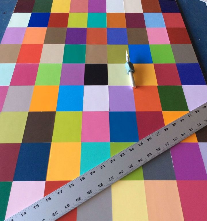 decorative piece using color samples