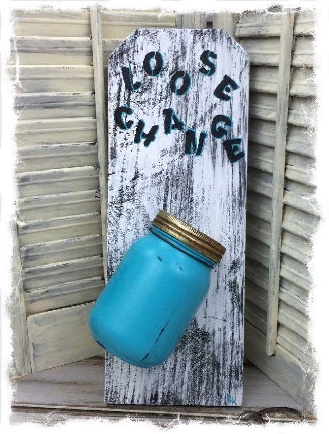 diy loose change jar