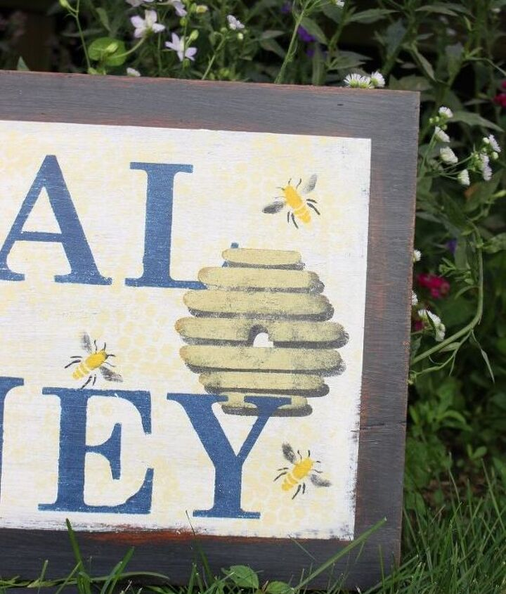 garden sign made from scrap wood