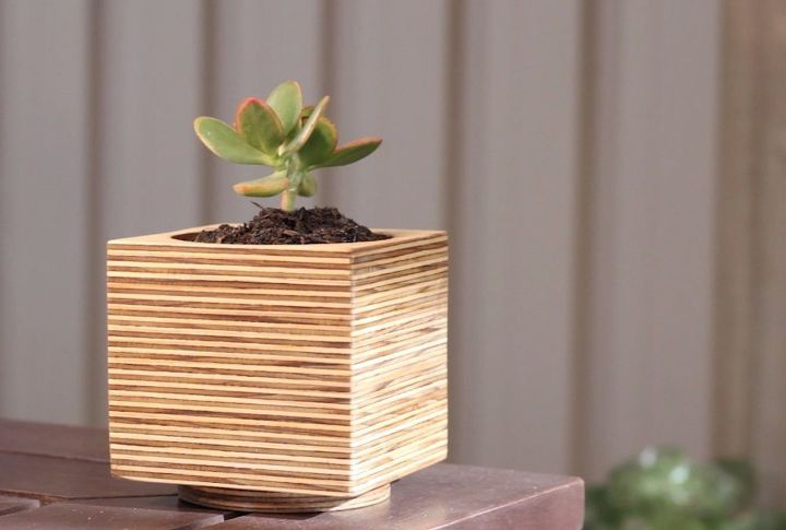 s 17 diy projects you can start and finish tonight, Create A Plywood Flower Pot