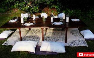 diy bohemian style pvc table