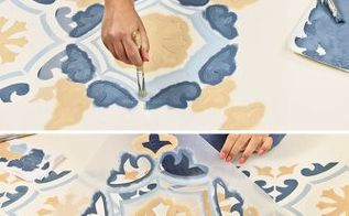 tile stencil renovation hack under 10