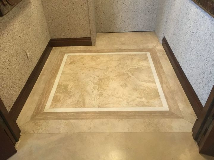 painted scallop tile floor makeover project