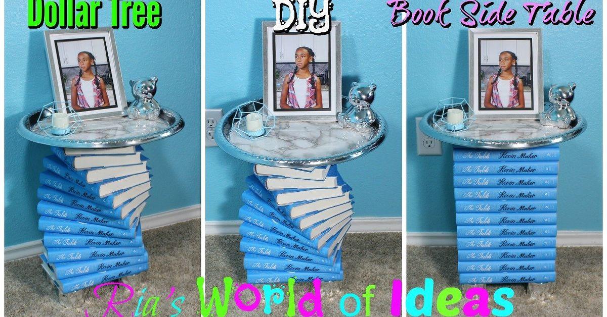 Dollar Tree Diy Book Side Table Hometalk
