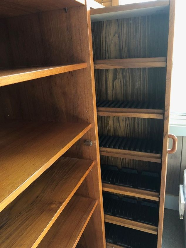 q what to do with old teak cabinet