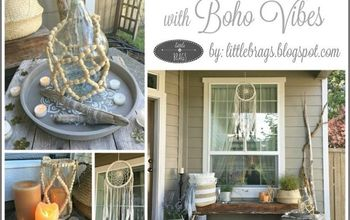 front porch decorated boho style