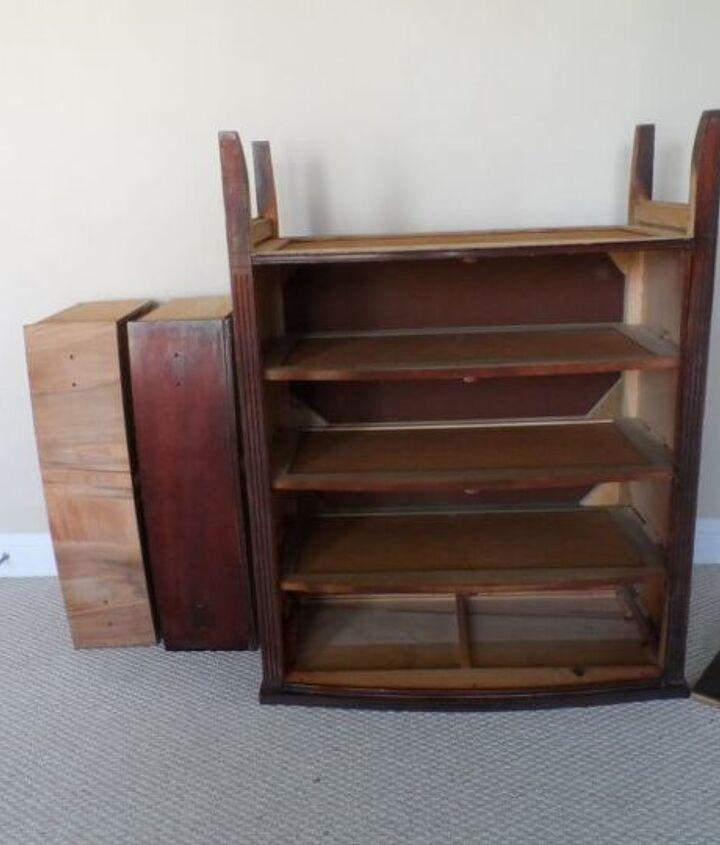 mahogany veneer dresser makeover