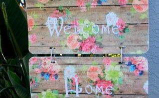 how to turn a license plate into a welcome sign
