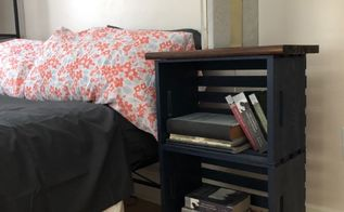 my navy blue crate nightstand