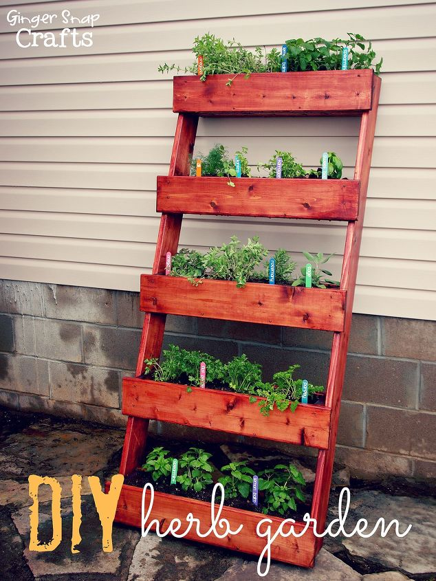 s 16 ways to showcase your herb garden, Beautiful Ladder Display
