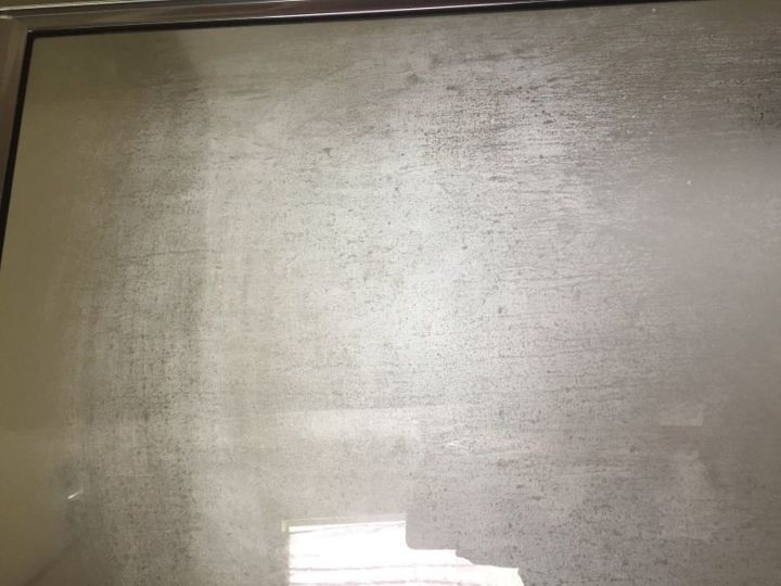 q any ideas on removing soa stains from shower door