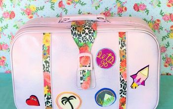 Thrift Store Suitcase Makeover