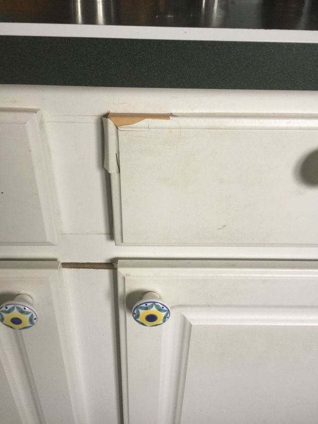 My Laminate Drawers And Doors Are, Repair Laminate Kitchen Cabinets
