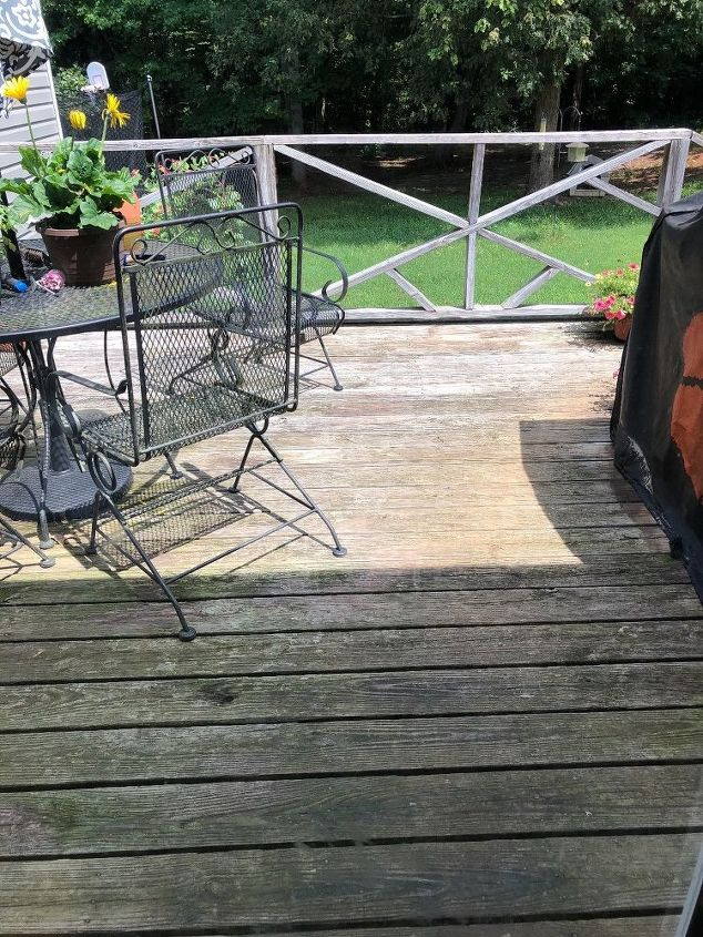 q what should i do to improve my old weathered deck