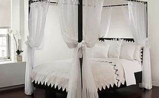 q how to make cheap wooden bed canopy