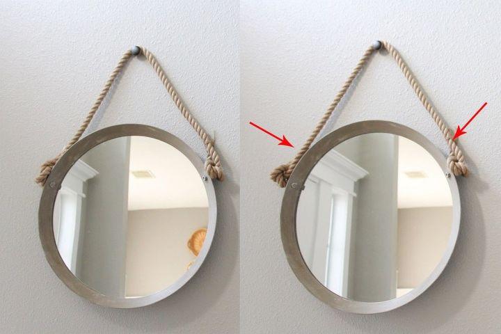 ikea hack rope mirror