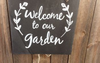 Slate Tile DIY Garden Sign