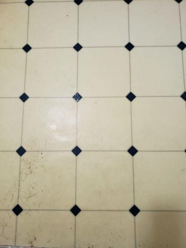 q how do you paint a linoleum bathroom floor