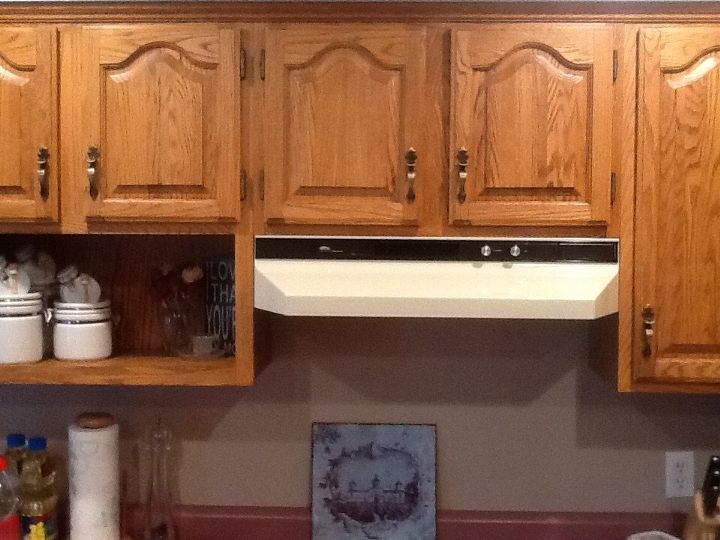 My builder's oak cabinets desperately need a refresh ...