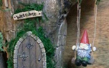 semi permanent indoor fairy gnome garden gnome house