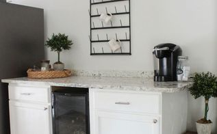diy rustic farmhouse beverage bar