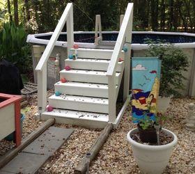 Above Ground Pool Steps Hometalk