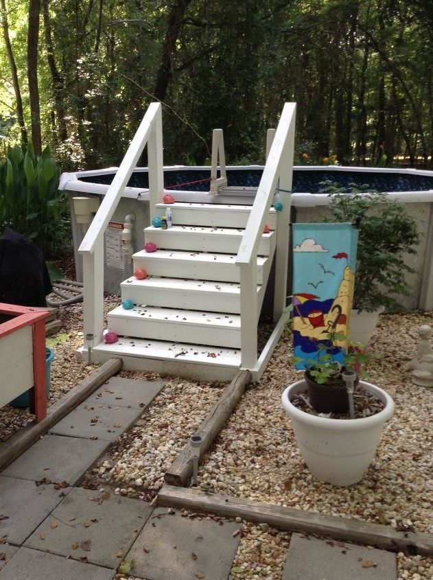 how to build wooden steps for an above ground pool