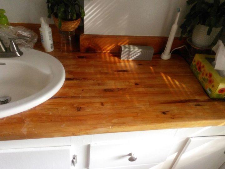 q best way to refinish wood vanity top