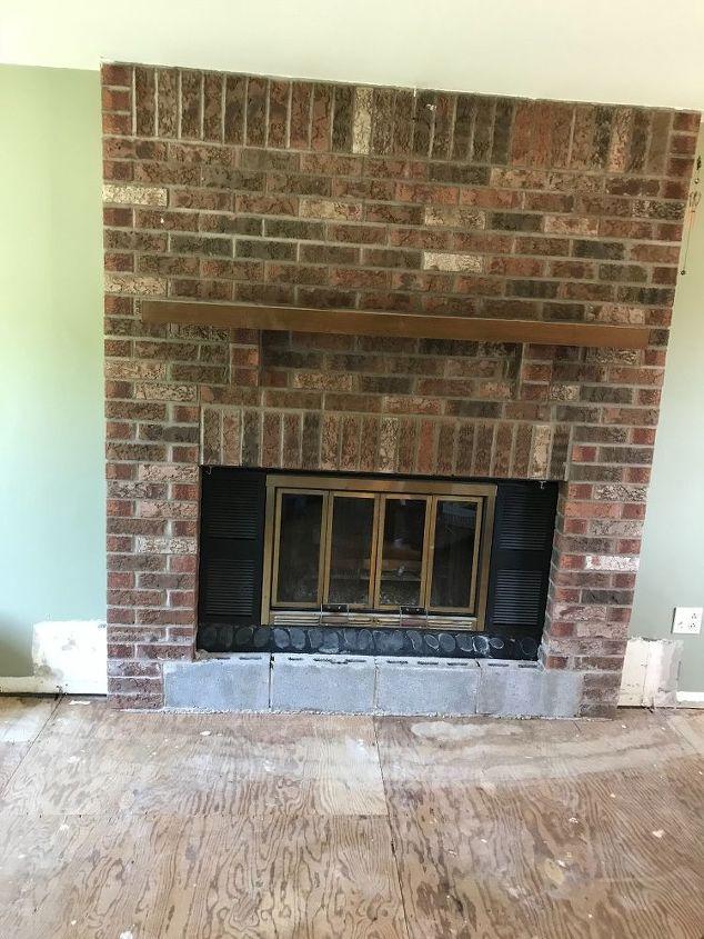 q my original brick fireplace 1980s any update ideas