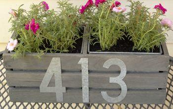 hanging address planter how to make a diy house number planter