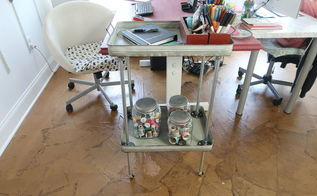 pottery inspired galvanized cart