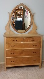 q i m refinishing a bird s eye maple dresser need help with how to re