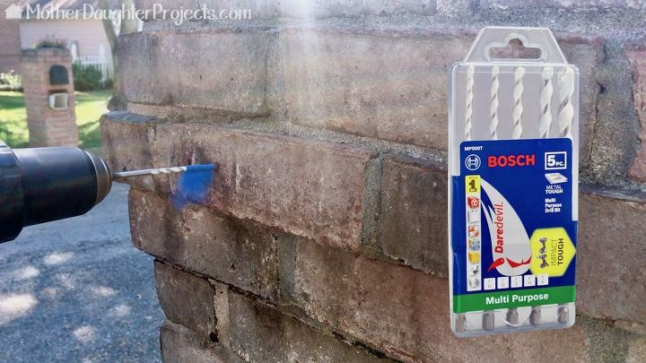 how to replace a mailbox flag on a brick mailbox