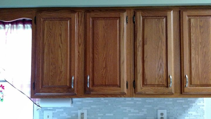 q how do i paint ugly pine kitchen cabinets soft grey or white