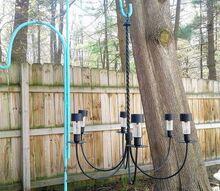 diy repurposed solar chandelier