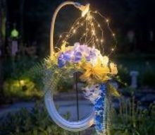 lighted hose summer wreath