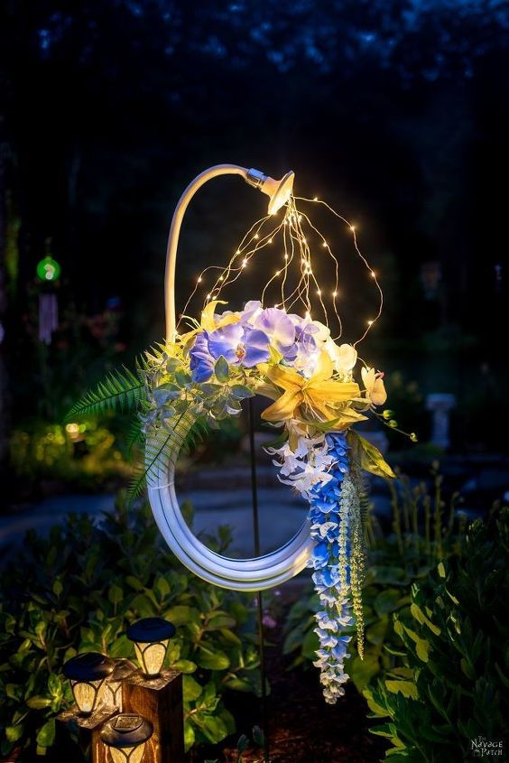 lighted hose summer wreath