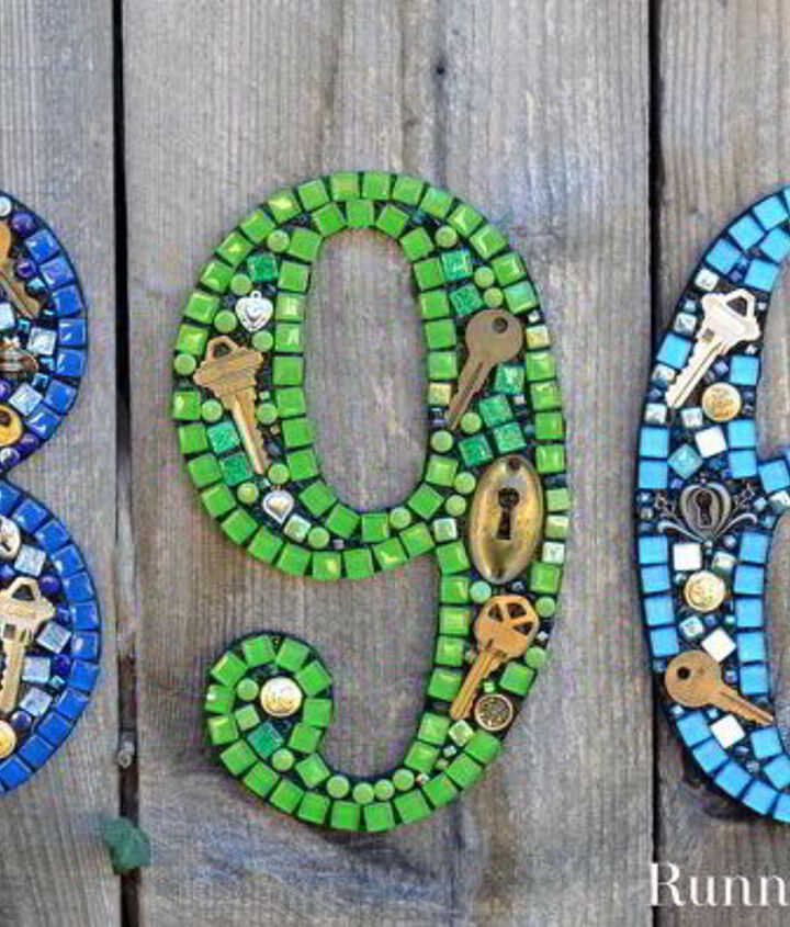 s 13 spectacular waysto display your house number, Mosaic House Numbers