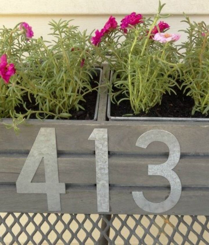 s 13 spectacular waysto display your house number, Hanging Address Planter