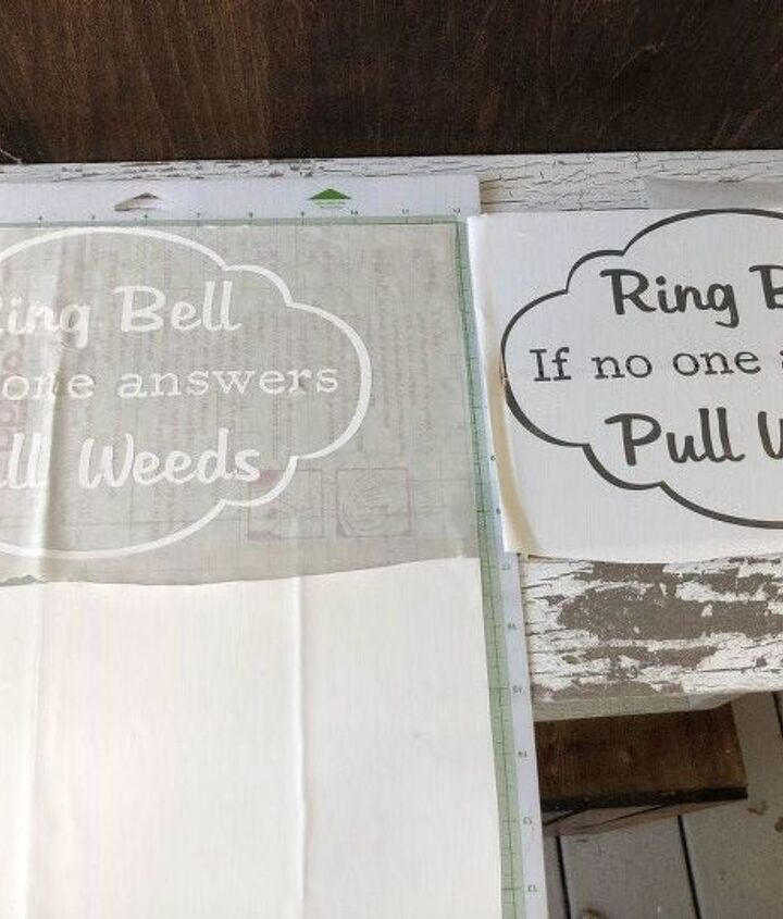 ring doorbell if no answer pull weeds front door sign sign 1